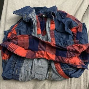 bdg button up flannel size smal